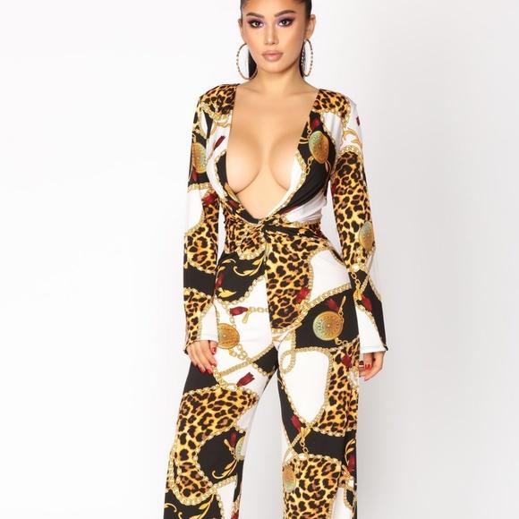 837e6ce85a Fashion Nova Pants - Fashion Nova print Jumpsuit